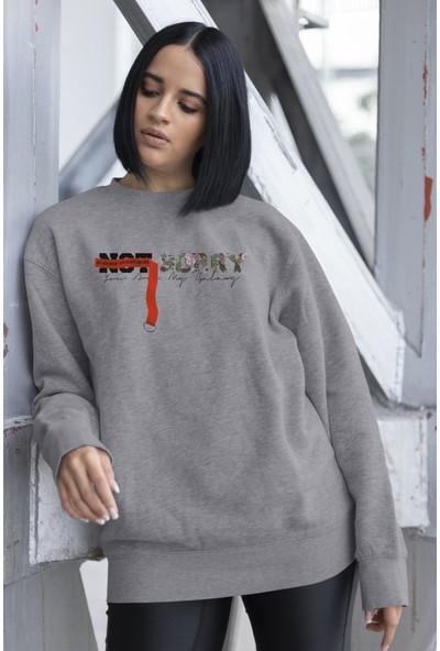 Angemiel Wear Not Sorry Kadın Sweatshirt