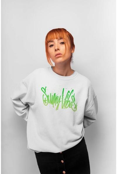 Angemiel Wear Summer Vibes Kadın Sweatshirt