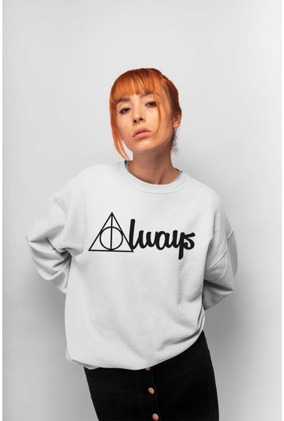 Angemiel Wear Harry Potter Always Kadın Sweatshirt