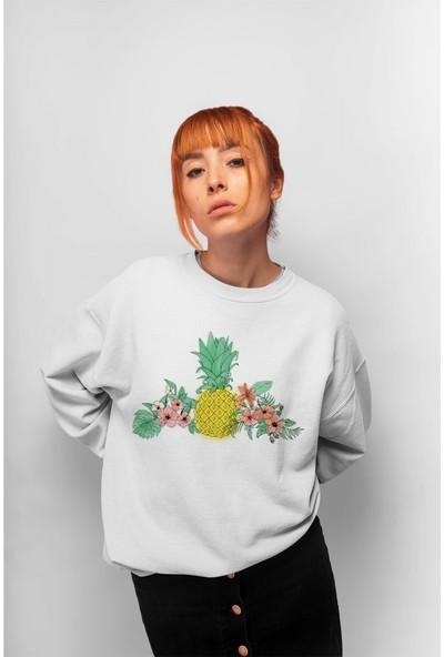 Angemiel Wear Ananas Kadın Sweatshirt