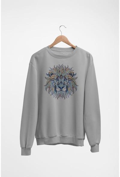 Angemiel Wear Colorful Lion Kadın Sweatshirt