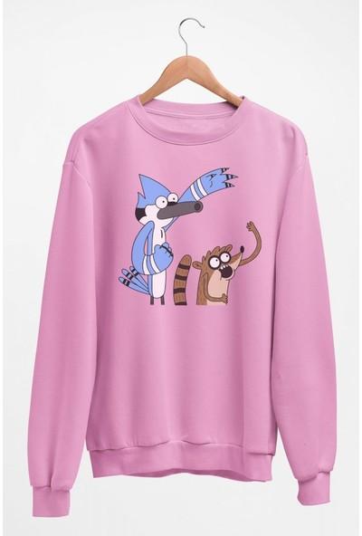 Angemiel Wear Rigby Ve Mordecai Kadın Sweatshirt