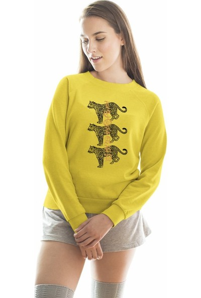 Angemiel Wear Leoparlar Kadın Sweatshirt