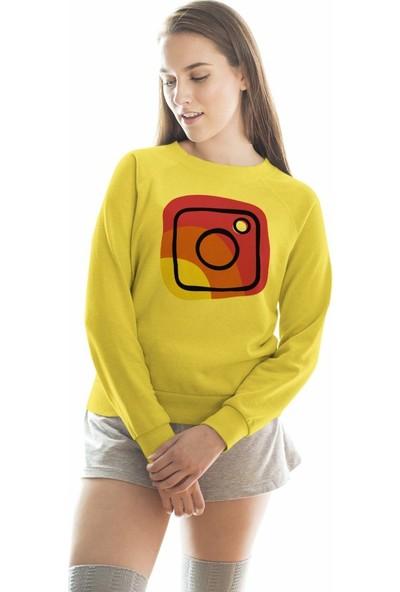 Angemiel Wear Rengarenk İnstagram Kadın Sweatshirt