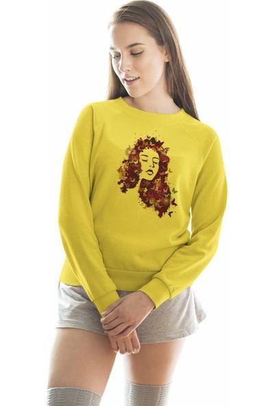 Angemiel Wear Mor Kelebek Saçlı Kadın Sweatshirt