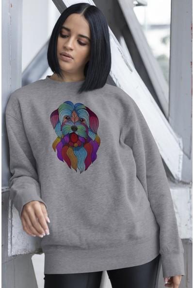 Angemiel Wear Dil Çıkaran Sevimli Köpek Kadın Sweatshirt