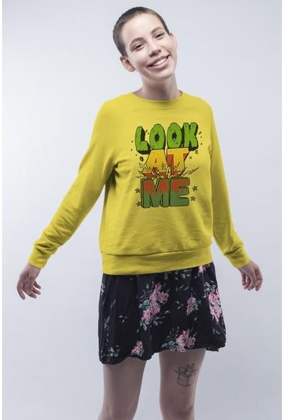 Angemiel Wear Look At Me Bana Bak Kadın Sweatshirt