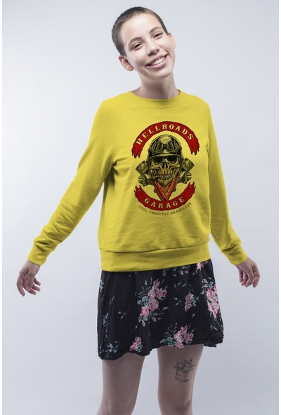 Angemiel Wear Hell Roads Kadın Sweatshirt