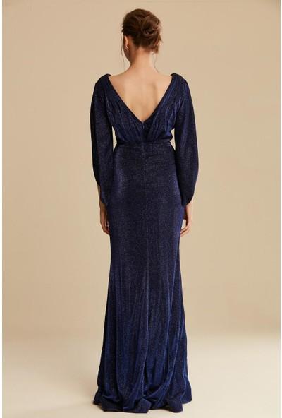 Tuğba & Venn Kadın Simli Abiye Elbise