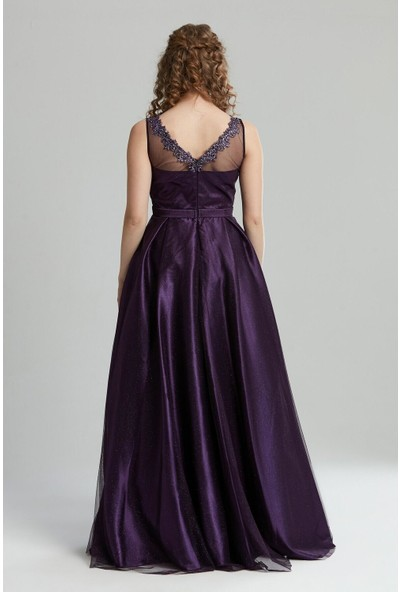 Tuğba & Venn Kadın V Yaka Abiye Elbise