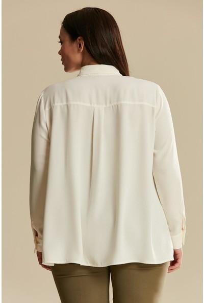 Tuğba & Venn Kadın Büyük Beden Gömlek