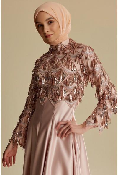 Tuğba & Venn Kadın Payetli Abiye Elbise