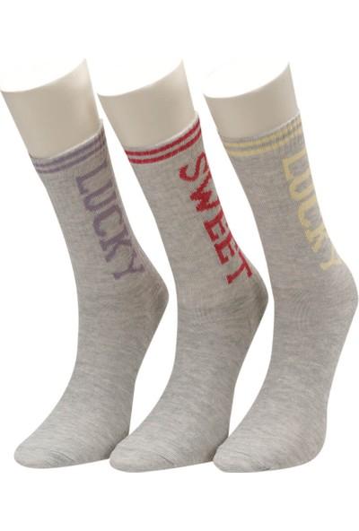 I Cool Sweet 3 Lu Skt-G Beyaz Multı Kız Çocuk Soket Çorap