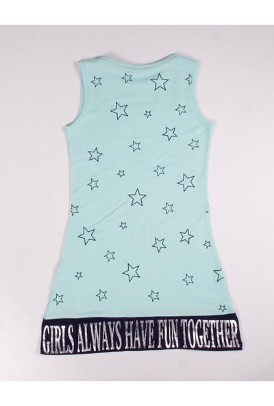 Toontoy Kız Çocuk Yıldız Baskılı Elbise