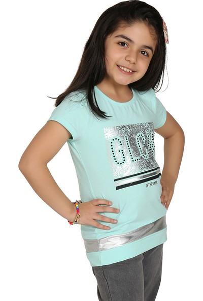 Toontoy Kız Çocuk Glow Baskılı T-Shirt