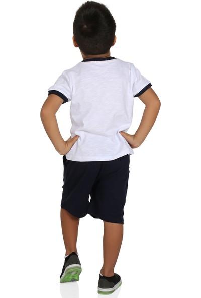 Toontoy Erkek Çocuk Sea Baskılı Şortlu Takım