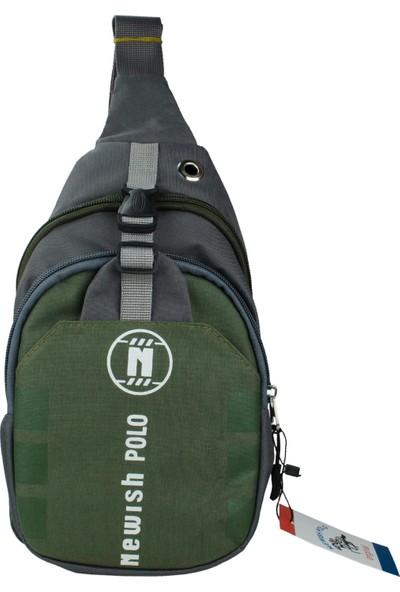 Newish Polo Erkek Body Bag Çapraz Çanta Waterproof Yeşil