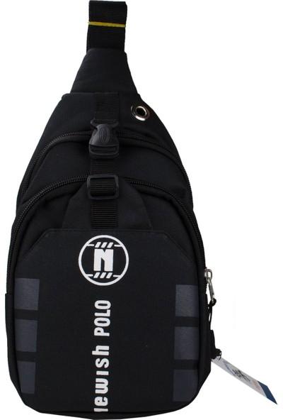 Newish Polo Erkek Body Bag Çapraz Çanta Waterproof Siyah