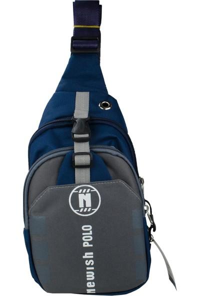 Newish Polo Erkek Body Bag Çapraz Çanta Waterproof Mavi