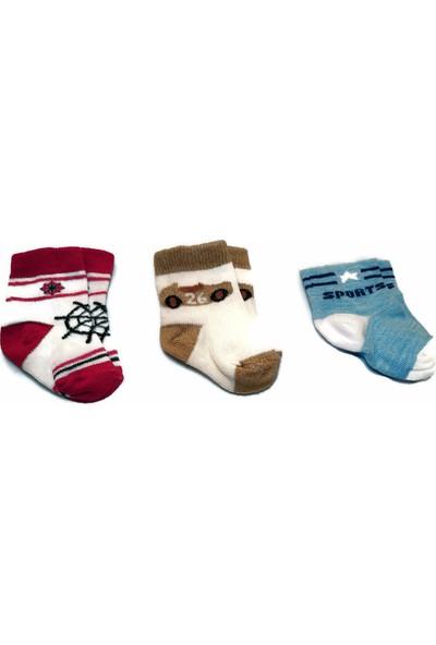 Kral Bebe Bebek 3'lü Set Çorap