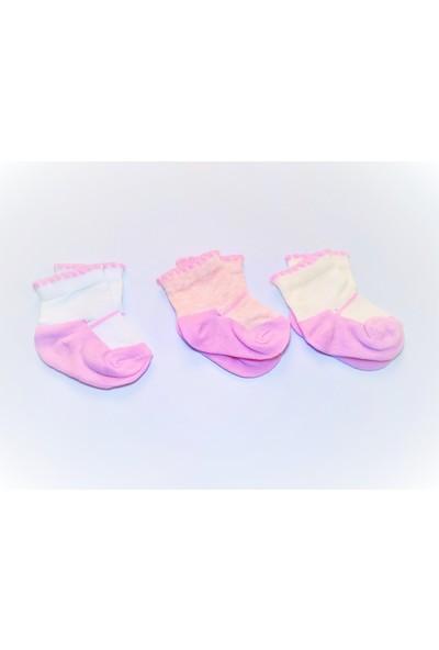 Kral Bebe Kız Bebek 3'lü Set Çorap