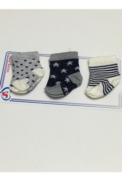Fındıkbebe Erkek Bebek 3'lü Set Çorap