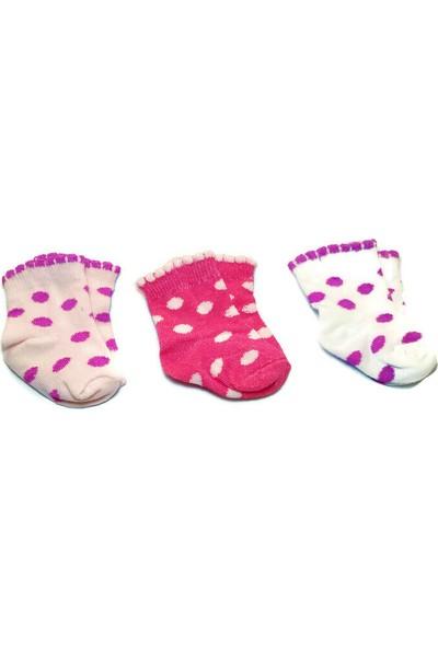 Fındıkbebe Kız Bebek 3'lü Set Çorap
