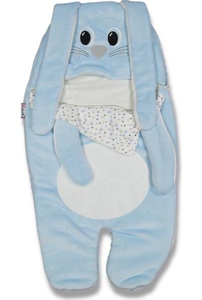 Fahroni Kız Bebek Velboa Tavşan Ayaklı Kundak