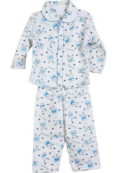 Hepsiihtiyaç Kroşartlı Bebek Pijama Takımı Mavi