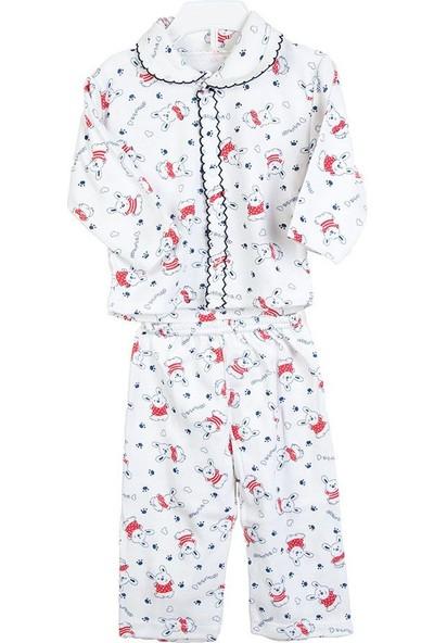 Hepsiihtiyaç Kroşartlı Bebek Pijama Takımı Kırmızı - Lacivert