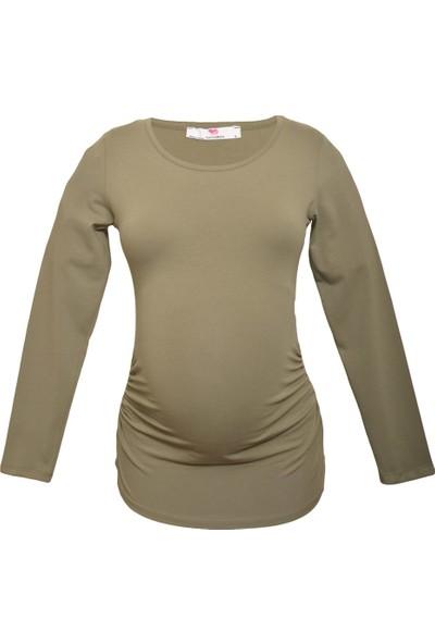 Luvmabelly 2301-2308 Pamuklu Uzun Kollu Hamile Sweatshirt