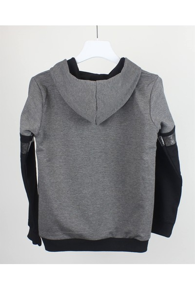 Minipomes Kız Çocuk Sim Baskılı Kapişonlu Sweatshirt