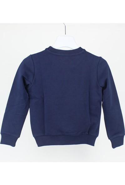 Minipomes Erkek Çocuk Manşet Kollu Iki Iplik Sweatshirt