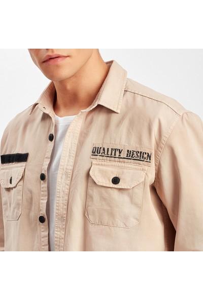 Manche Taş Çift Cep Kapaklı Gömlek ME19S111445