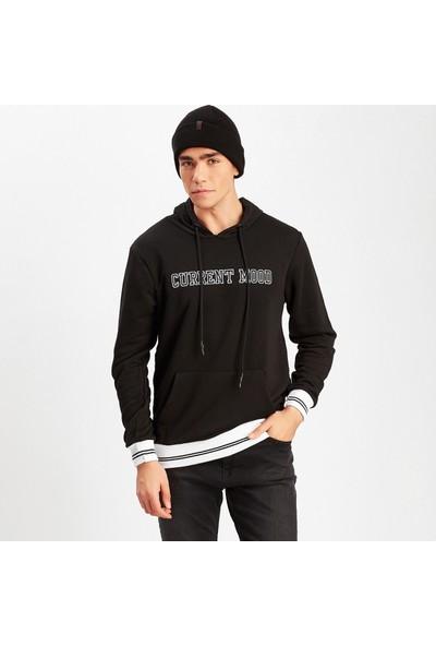 Manche Siyah Erkek Sweatshirt ME19W224221