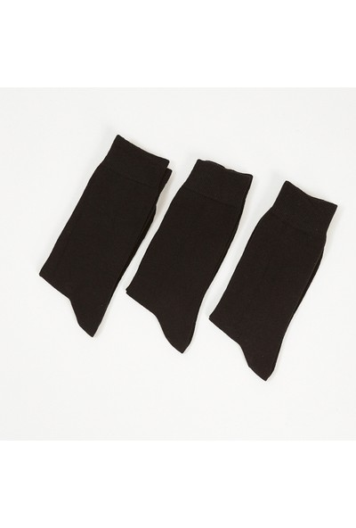Manche Düz Siyah Erkek Çorap ME20W940034