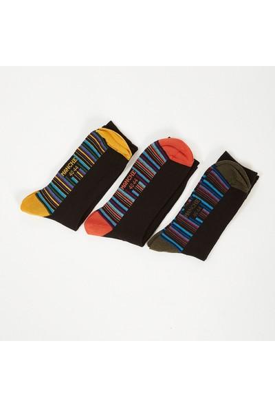 Manche Siyah Çizgili Erkek Çorap ME20W940038