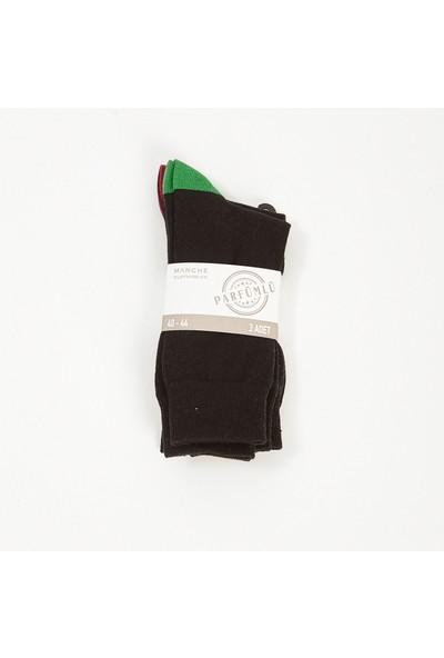 Manche Siyahli Kombin Erkek Parfümlü Çorap ME20W940040
