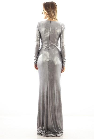 Arda New Line Kadın Gümüş Abiye 1607478-13.221