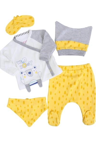 İmaj Ayılı Sarı Erkek Bebek 5'li Hastane Çıkışı