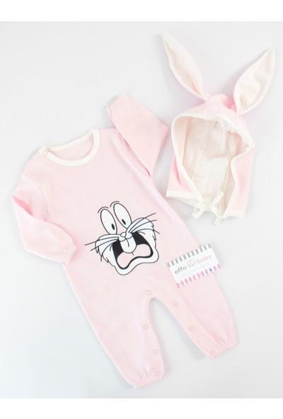 Murat Baby Murat Baby Bunny Tavşanlı Pembe Tulum Takım