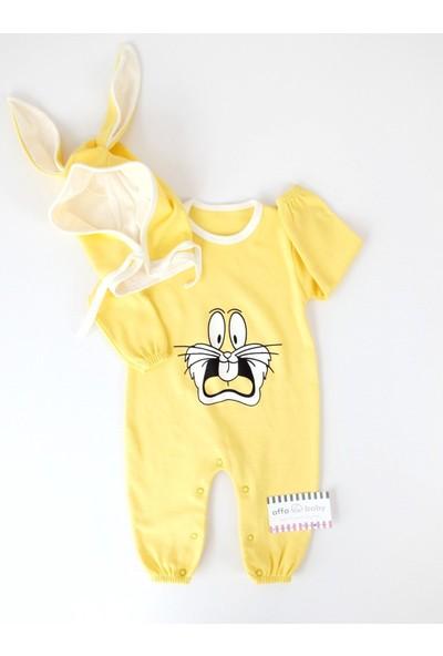 Murat Baby Murat Baby Bunny Tavşanlı Sarı Tulum Şapka Takım