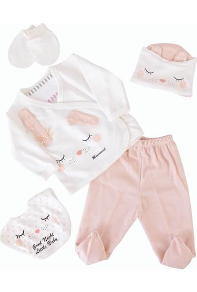 Miniworld Uyuyan Tavşanlı Somon Kız Bebek 5'li Hastane Çıkışı