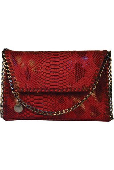 Avi BagsOmuz Askılı Kadın Pullu Kırmızı Çapraz Kadın Çanta (Lrs242)