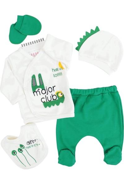Mini Zeyn Major Yeşil Erkek Bebek 5'li Hastane Çıkışı
