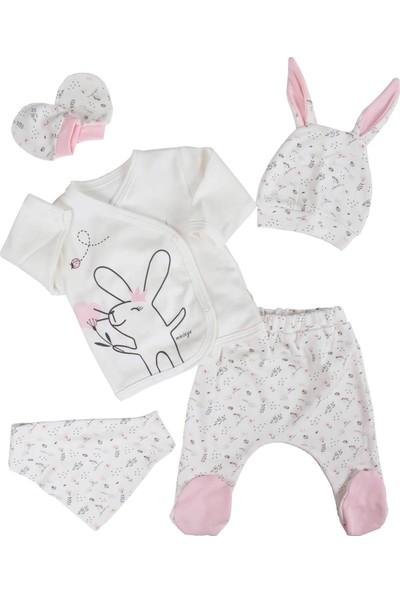 Mini Zeyn Tavşanlı Kız Bebek 5 Li Hastane Çıkışı