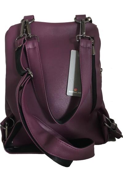 Avi BagsMor Renk Kadın Sırt Çantası (Lrs440)