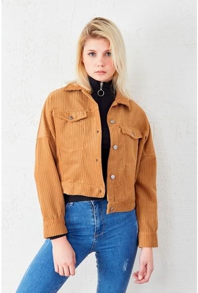 Freestar Kadife Uzun Kol Ceket