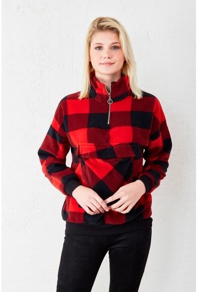 Freestar Kanguru Cep Yarım Fermuarlı Sweatshirt