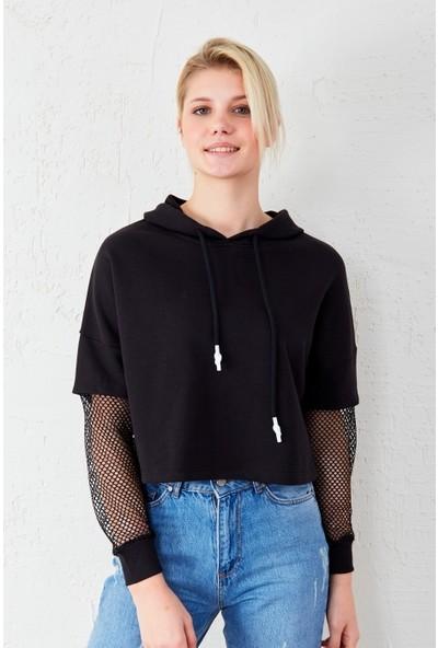 Freestar Kolu Fileli Sweatshirt